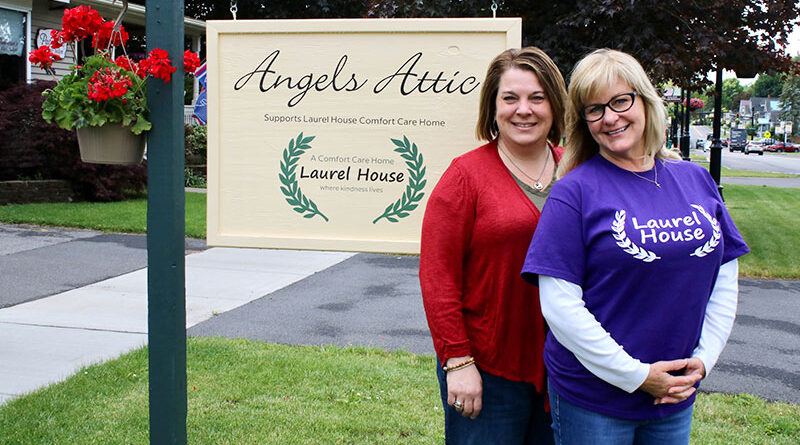 Yvonne Mac Taggart And Gina Bement have known each other since they were in fifth grade together at the old St. Michael's School. Together they manage the Angels Attic second-hand gift shop on South Main Street in Newark. The store is a fundraiser for Laurel House Comfort Care Home.