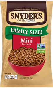 Snyder's: A bag of Snyder's pretzels has gone from about $2 a bag to $3.69.