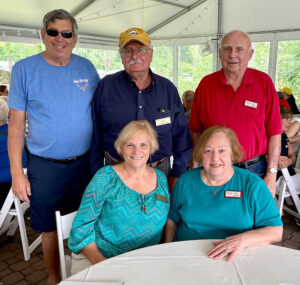 Corvette drivers all and members of the Rochester Corvette Club: from left, front row, are Joyce Juzwiak and Cheryl Russell, and back row, Tony Caraglio, Joe Juzwiak and Bob Russell.