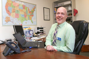 Ethan Fogg at the office of Canandaigua Chamber of Commerce. He serves as the organization's president and CEO.