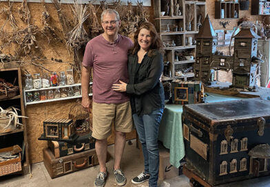 Betsy and Chris Marshall maintain the Birdsong Fairy Trail located at Mendon Ponds Park.