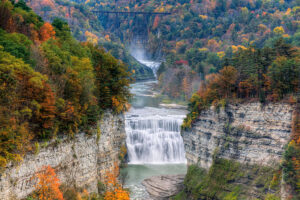 The Middle Falls at Letchworth State Park in New York
