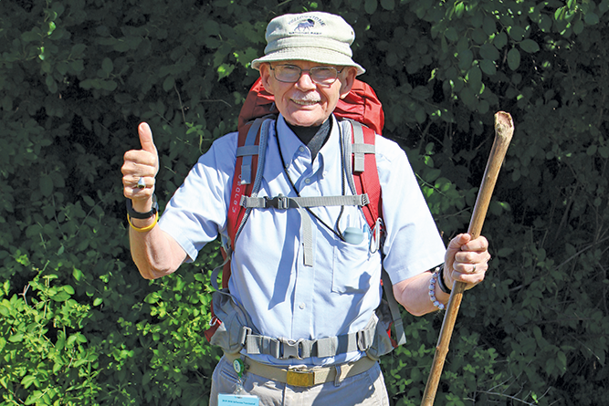 Herb Tierney trains for a 500-mile trek across France and Spain to raise money for Lifetime Care's hospice program.