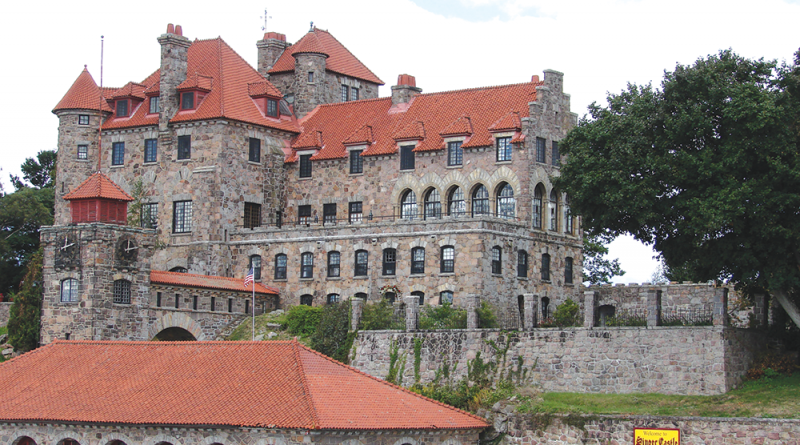 The five-story Singer Castle on Dark Island was built in 1905 by Frederick Bourne, president of Singer Sewing Machine Company. It's one of main attractions in the Thousand Islands region.