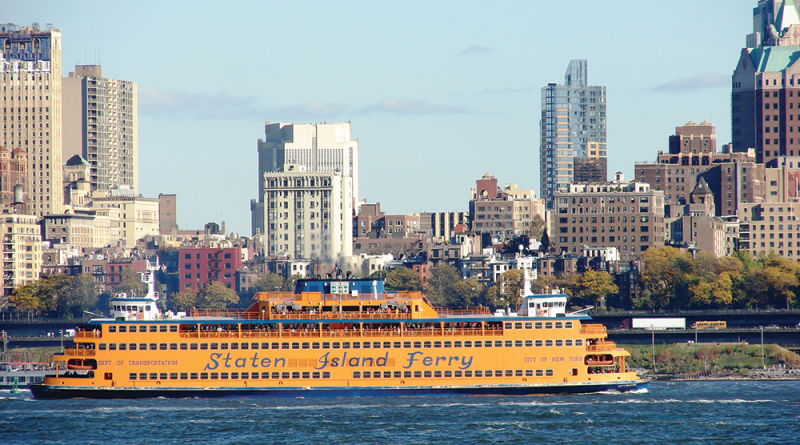 """The Staten Island Ferry has been carrying passengers between Manhattan and Staten Island since 1905 and has been dubbed """"One of the world's greatest and smallest water voyages."""" The ferry runs 24 hours a day, year-round and it's free of charge."""