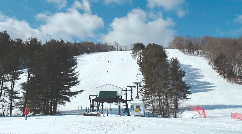 Winter is the time for downhill skiing at Snow Ridge where there are 21 runs.