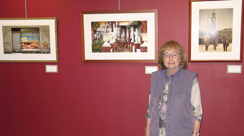 Roslyn Rose at her first solo show in Rochester, at the MuCC Gallery in May.