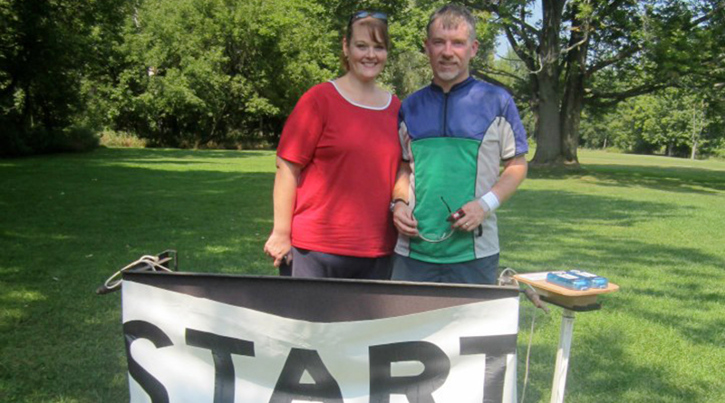 Don and Cheri Winslow enjoy orienteering together.