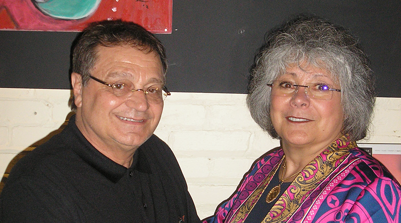 Tony Mangione and his wife, Sharon, at the Little Theatre recently.