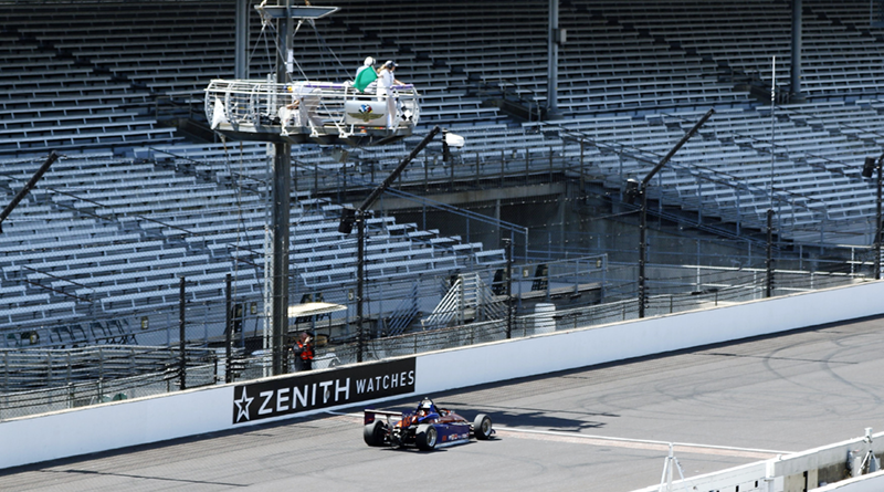 Mark Green passing The Yard of Bricks at the Indianapolis Motor Speedway in 2017.