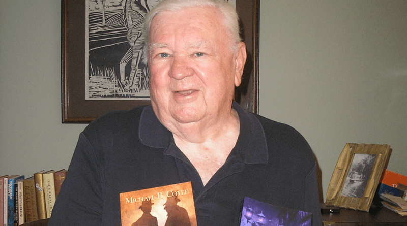 """Michael B. Coyle of Canandaigua is working on his third book. """"I wanted to be a writer for years,"""" the 80-year-old says."""