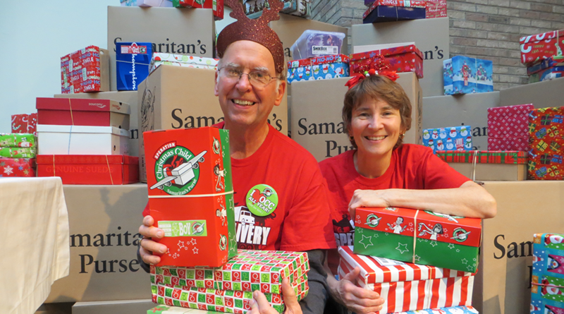 Pat and Joe Slesak of Greece volunteer with Samaritan's Purse, a nondenominational evangelical Christian organization that helps less fortunate children around the globe.