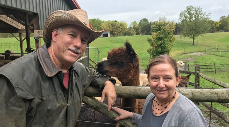 Mark Gilbride and his wife Sharon own Lazy Acre Alpacas in West Bloomfield. He was previously vice president of Splat Ball, Inc. in East Rochester.