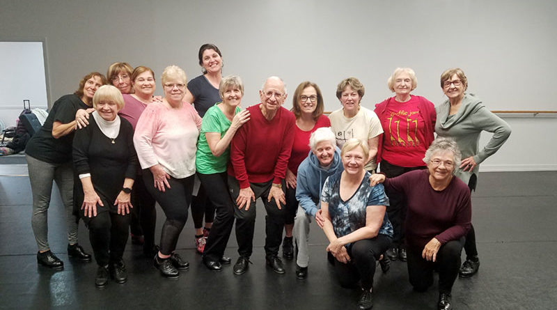 Some dancers of the group Oasis Tappers ready to rehearse. They perform their routines at senior centers, nursing facilities, festivals, parties, holiday events, and a variety of other venues all over the area.