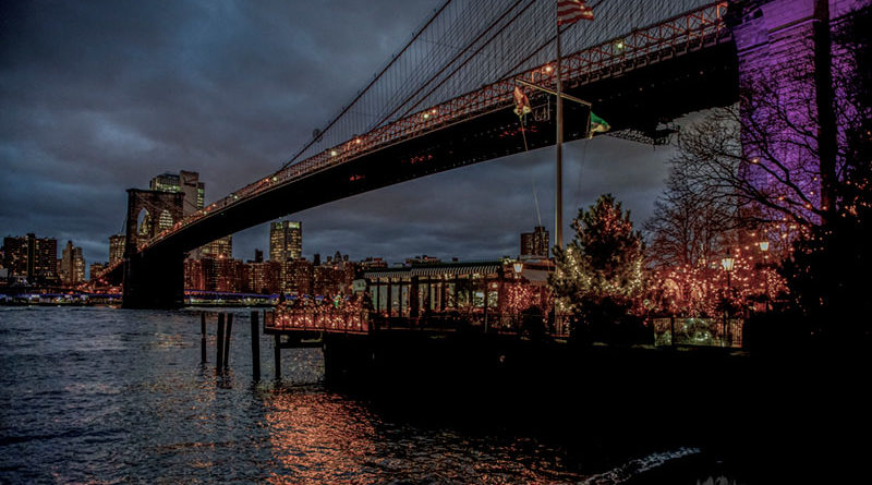 City Lights from Brooklyn by Regina O'Loughlin Muscarella. A trip to the Big Apple offered two of Muscarella's favorites: urban and night photography.