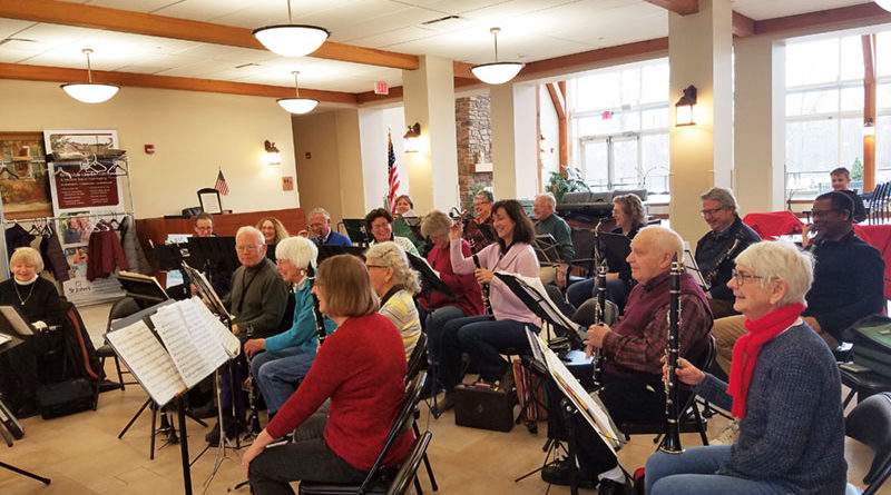 Members of New Horizons Clarinet Choir during a recent practice. Number of participants swells from 30 during the winter to more than 40 during the warmer months.
