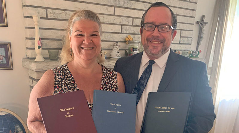 Nicholas Salvatore Gatto founded Legacies of Life, LLC. in 1994 after completing a 500-page book about his own life for his daughters. He now helps others write their stories. He is shown with his wife Linda Gatto.