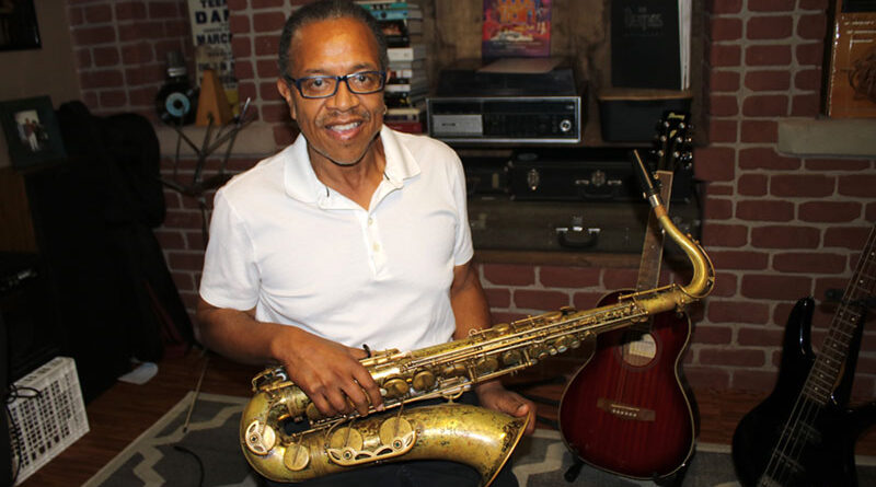 The pandemic curtailed music performances but tenor saxophonist Jim Richmond of Farmington used that time to get deeper into his music writing and set up a studio in his home. His sax is an antique, used by a member of the original Duke Ellington band, who had his name etched on the instrument.