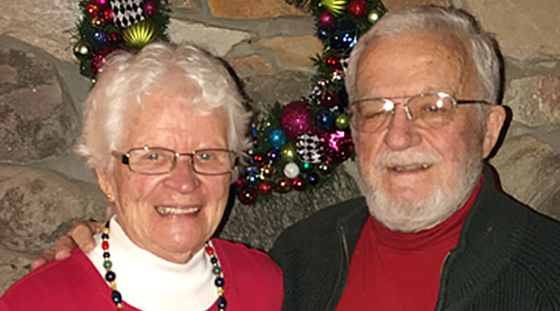 """Penfield residents Martha Welch and Peter Perine, both 84, lost their previous spouses in 2012. They met each other shortly after at the Unitarian Church in Brighton and later married. """"Both of us strongly believe we don't want to live alone,"""" say Perine."""
