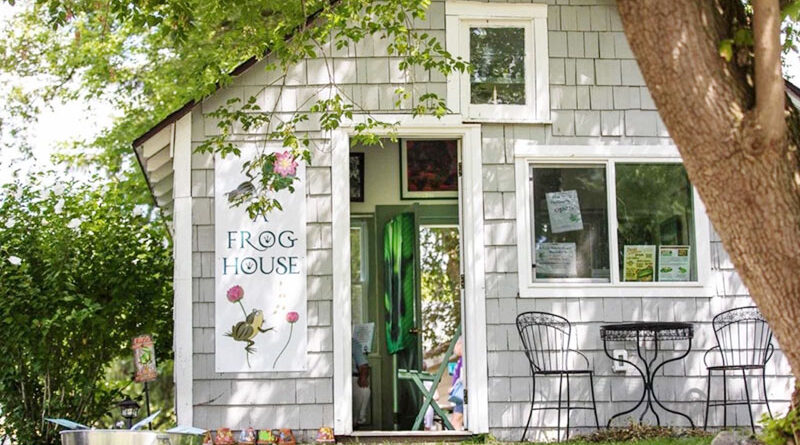Photo by Stephen Ransom. A Frog House in Pittsford. It brings recreational events and workshops, practical educational seminars, scavenger hunts and fun activities for children — all revolving around frogs.