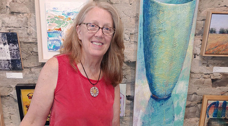 Kathryn Bevier is an artist who directs the Mill Art Center and Gallery in Honeoye Falls. She also develops colors for encaustic paint and uses it in her own painting of still life and landscapes.